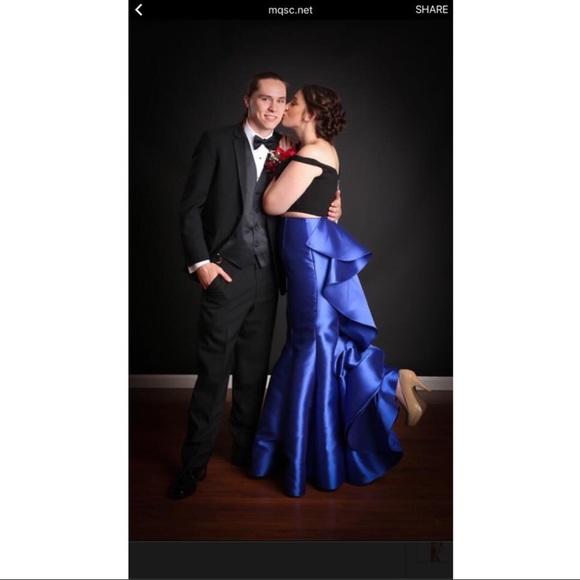 Sherri Hill Dresses 2piece Black And Royal Blue Dress Poshmark